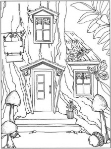 coloring page Tree houses (3)