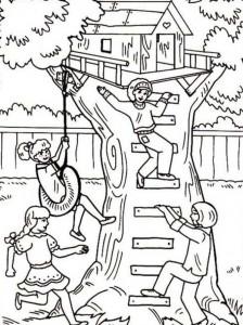 målarbok Trädhus (4)
