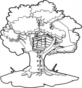 coloring page Tree houses (5)