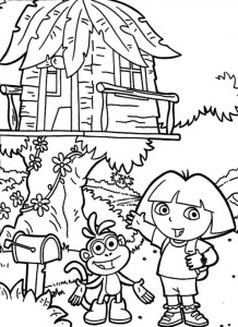 coloring page Tree houses (7)