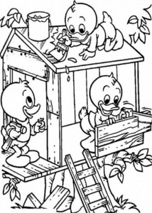 coloring page Tree houses (8)