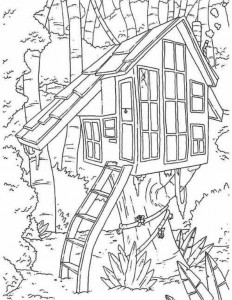 coloring page Tree houses (9)
