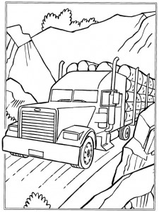 coloring page Trunks transport