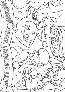 coloring page Boots is having a birthday! (1)