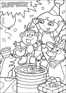 coloring page Boots is having a birthday!