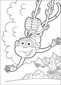 Coloring page Boots swings