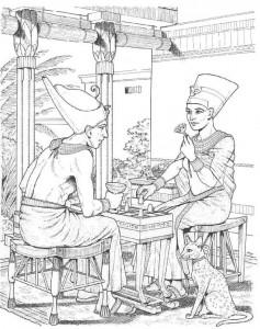 målarbok Brädspel