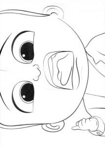 Dibujo para colorear jefe-bebé-11
