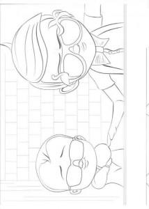 Dibujo para colorear jefe-bebé-12