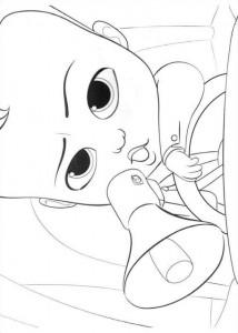 Dibujo para colorear jefe-bebé-13