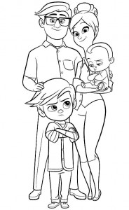 Dibujo para colorear jefe-bebé-26