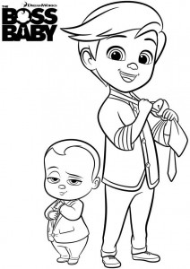 Dibujo para colorear jefe-bebé-27