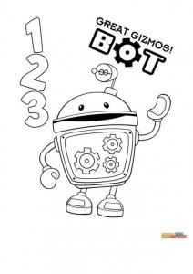 kleurplaat Bot