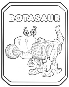 coloring page botasaur 2