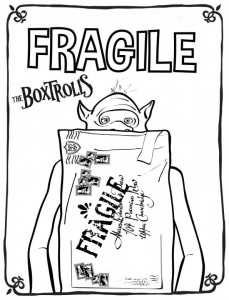 coloring page boxtrolls fragile