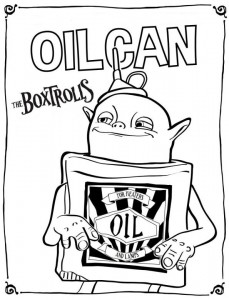 coloring page boxrolls oilcan