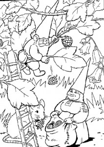 coloring page Harvesting blackberries