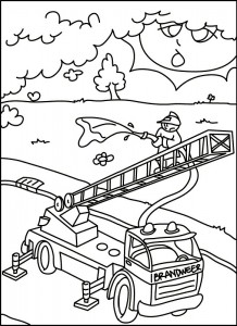 coloring page Fire brigade in action