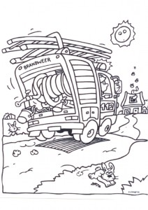 coloring page Fire brigade pulls out