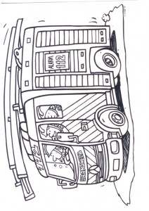 coloring page Fire engine (1)