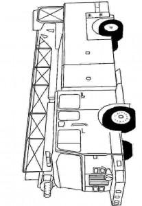 målarbok Brandmotor