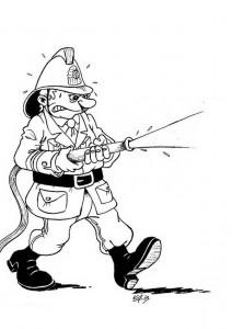 Malvorlage Feuerwehrmann (1)