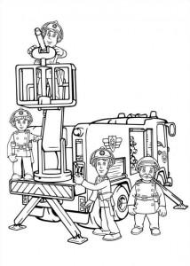 Χρωματίζοντας σελίδα πυροσβέστης Sam (1)
