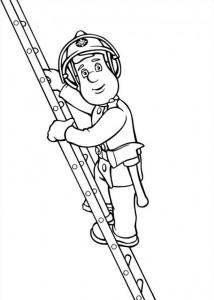 kleurplaat Brandweerman Sam (22)