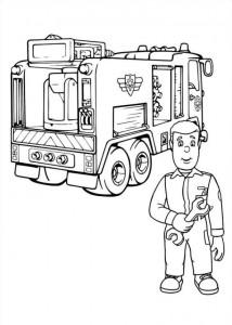 kleurplaat Brandweerman Sam (26)