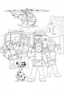 coloring page Brannmann Sam (30)