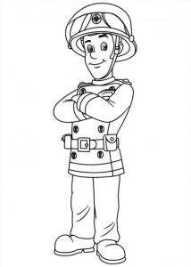 kleurplaat Brandweerman Sam (32)