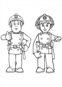 kleurplaat Brandweerman Sam (4)
