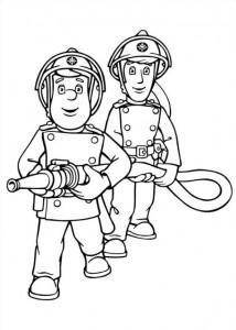 kleurplaat Brandweerman Sam (6)
