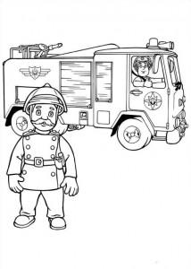 kleurplaat Brandweerman Sam (8)