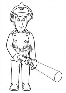 kleurplaat Brandweerman Sam (9)