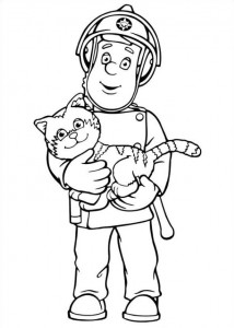 coloring page Brannmann Sam