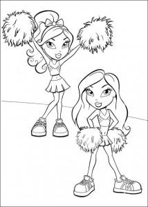 kleurplaat Bratz Cheerleaders
