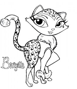 boyama kitabı Bratz Petz Brigitte (1)