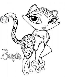 kleurplaat Bratz Petz Brigitte (1)