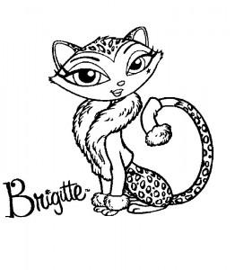 kleurplaat Bratz Petz Brigitte