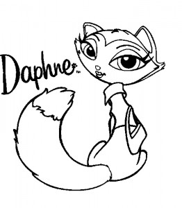 Dibujo para colorear Bratz Petz Daphne (1)