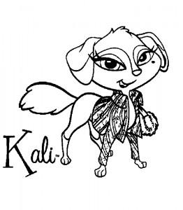 pagina da colorare Bratz Petz Kali