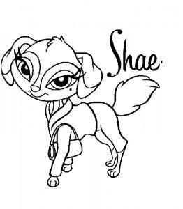 kleurplaat Bratz Petz Shae