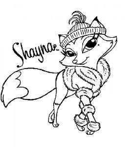 pagina da colorare Bratz Petz Shayna