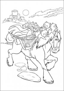 coloring page Brave (1)