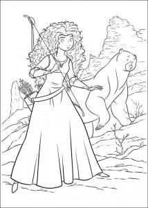 coloring page Brave (10)