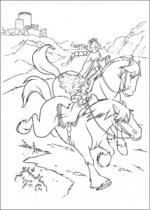 coloring page Brave (11)
