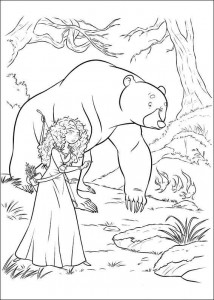 coloring page Brave (13)