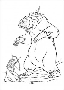coloring page Brave (14)