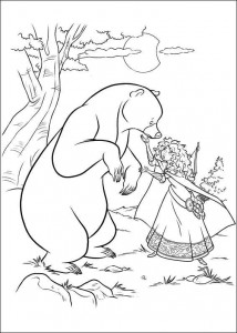 coloring page Brave (16)